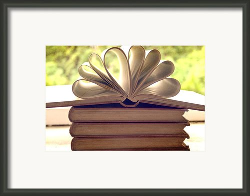 Book Flower Framed Print By Georgia Fowler
