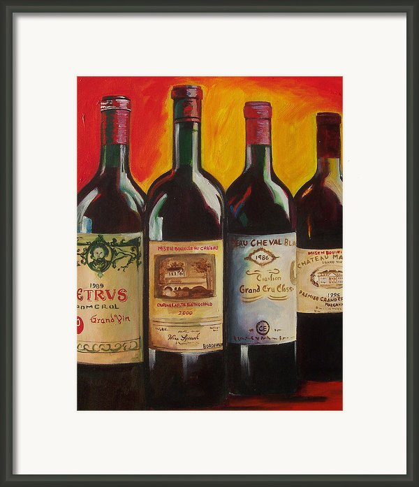 Bordeaux Framed Print By Sheri  Chakamian
