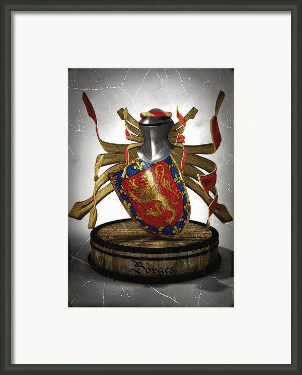 Borges Family Coat Of Arms Framed Print By Frederico Borges