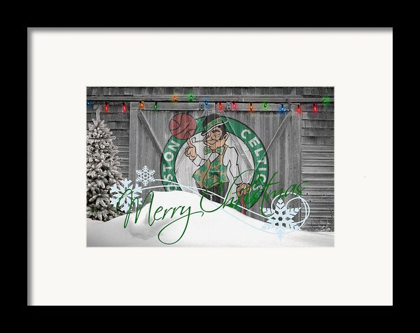 Boston Celtics Framed Print By Joe Hamilton