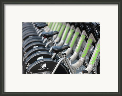 Boston Public Bikes I Framed Print By Clarence Holmes