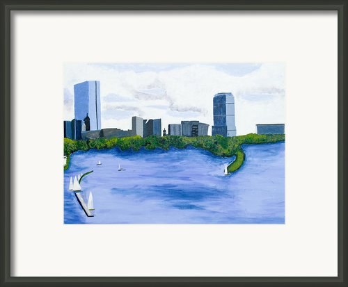 Boston Skyline Framed Print By Carmela Cattuti