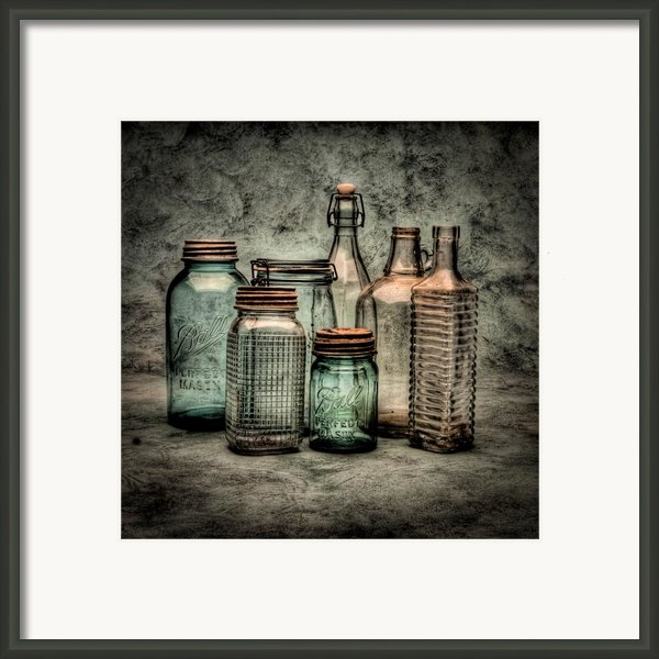 Bottles Ii Framed Print By Timothy Bischoff