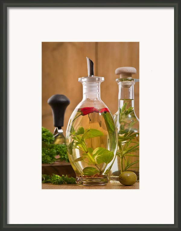 Bottles Of Olive Oil Framed Print By Christopher And Amanda Elwell