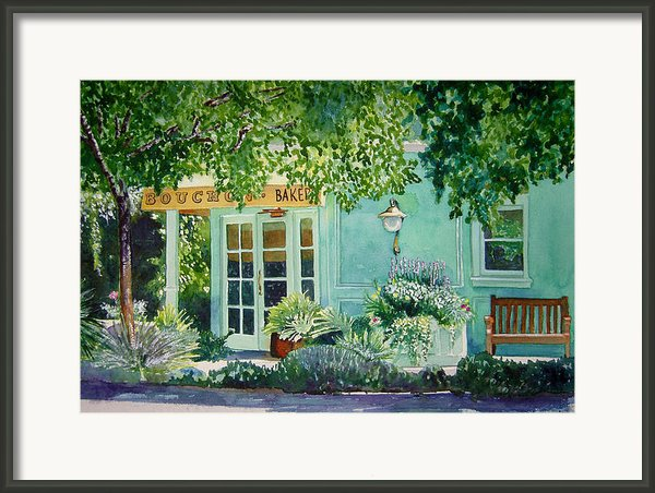 Bouchon Bakery In The Morning Framed Print By Gail Chandler