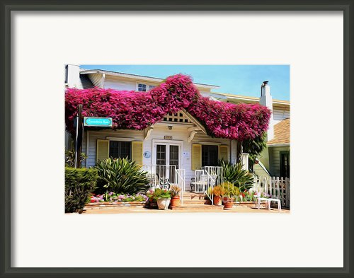 Bougainvillea House Framed Print By Cheryl Young