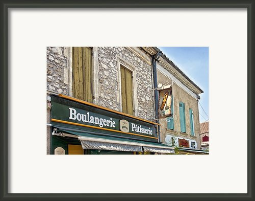 Boulangerie In Summer Framed Print By Georgia Fowler