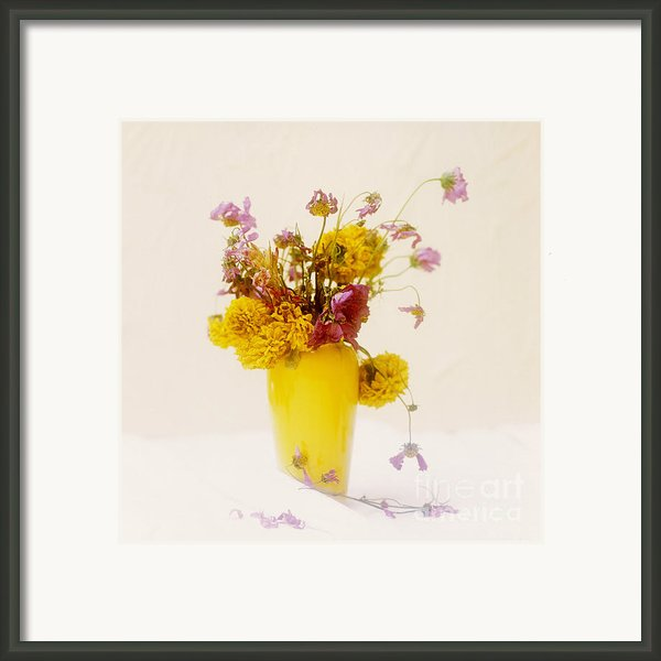Bouquet Of Flowers Framed Print By Bernard Jaubert