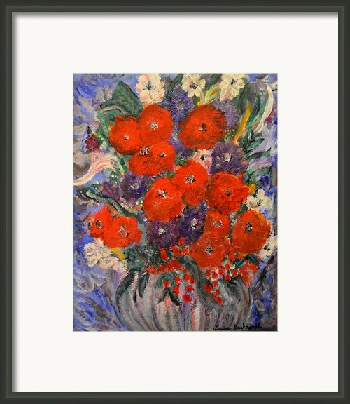 Bouquet Splash Framed Print By Louise Burkhardt
