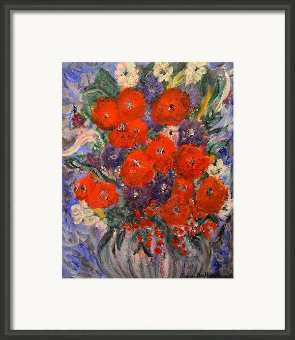 Bouquet Splash Framed Print By Louise Burkhardt