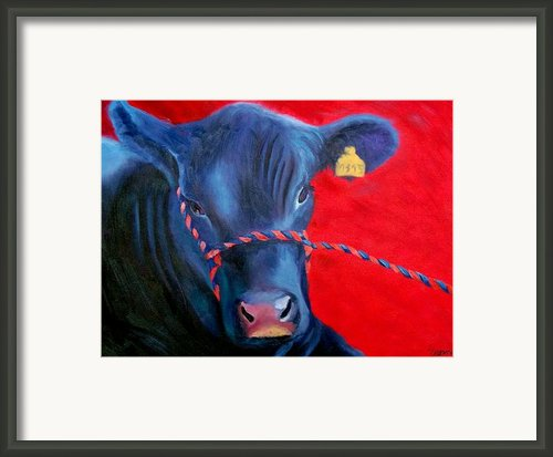 Bovine Intervention Framed Print By Lisa Lea Bemish