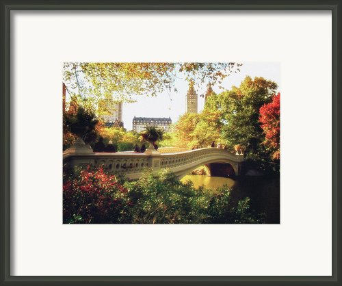 Bow Bridge - Autumn - Central Park Framed Print By Vivienne Gucwa