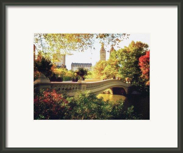 Bow Bridge - Autumn - Central Park Framed Print By Vivienne Gucwa