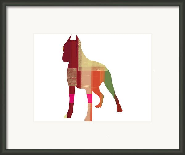Boxer 2 Framed Print By Naxart Studio
