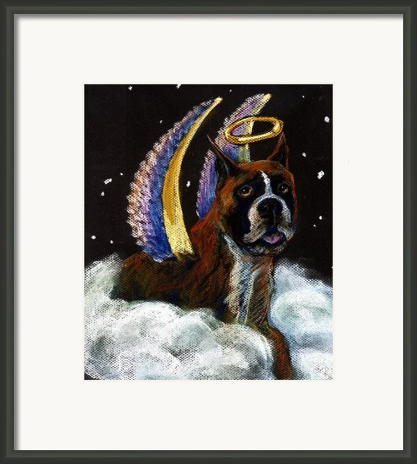Boxer Angel Framed Print By Darlene Grubbs