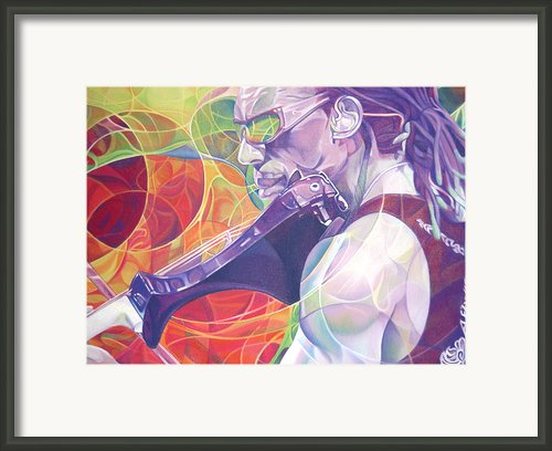 Boyd Tinsley And Circles Framed Print By Joshua Morton