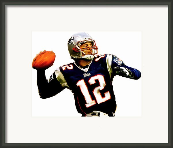 Brady  Tom Brady  Framed Print By Iconic Images Art Gallery David Pucciarelli