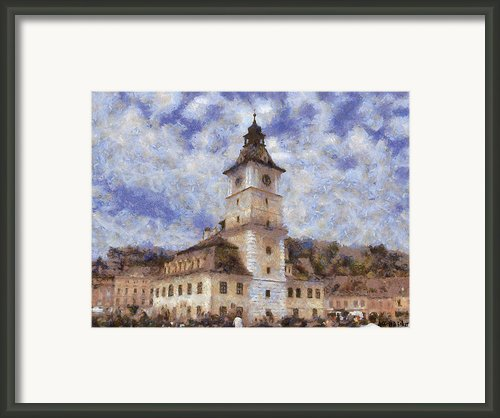 Brasov City Hall Framed Print By Jeff Kolker