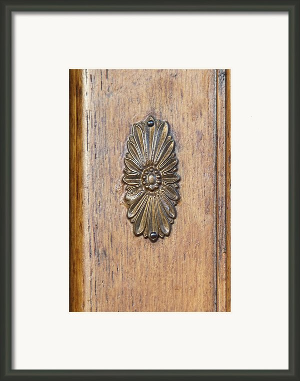 Brass Medallion Framed Print By Michael Flood