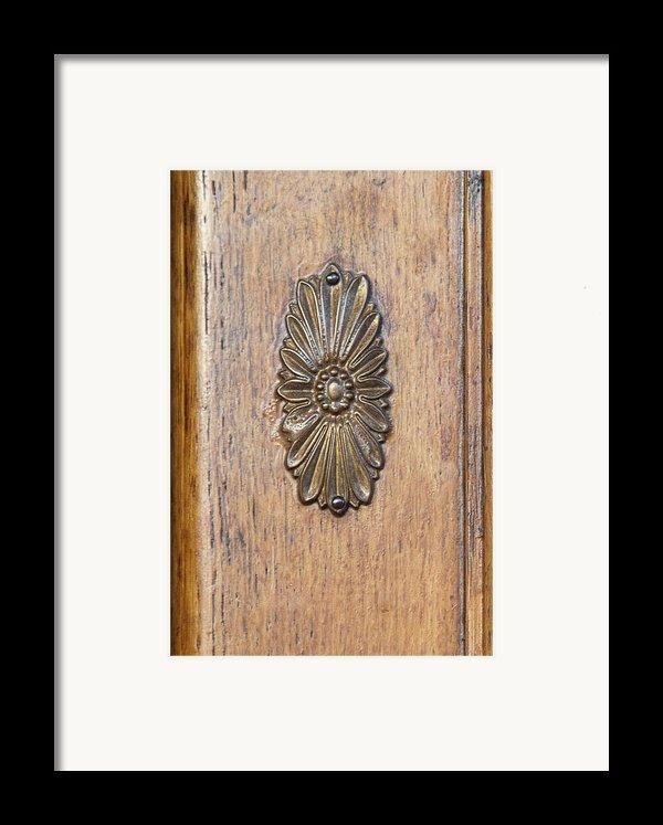 Brass Medallion Framed Print By Michael Flood