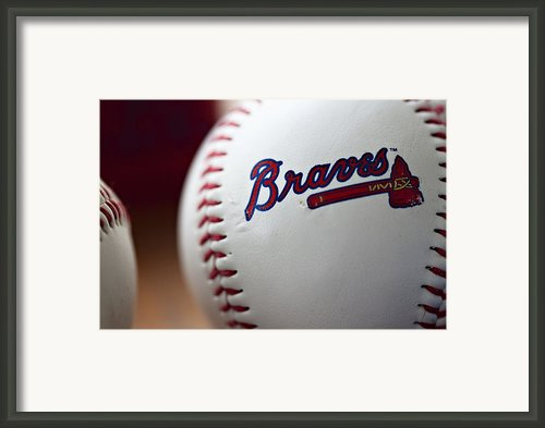 Braves Baseball Framed Print By Ricky Barnard