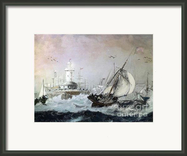 Braving The Storm Framed Print By Lianne Schneider