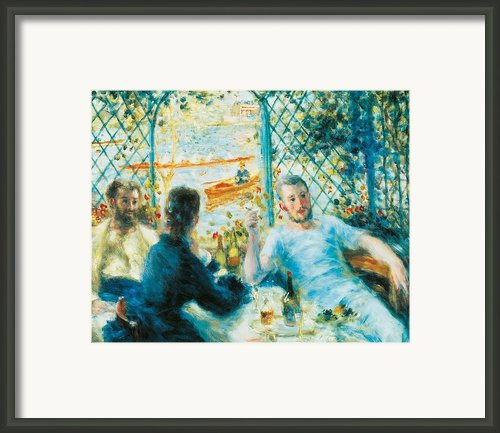 Breakfast By The River Framed Print By Pierre-auguste Renoir