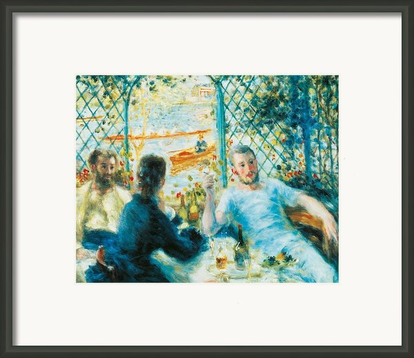 Breakfast By The River Framed Print By Pierre-auguste Renoir