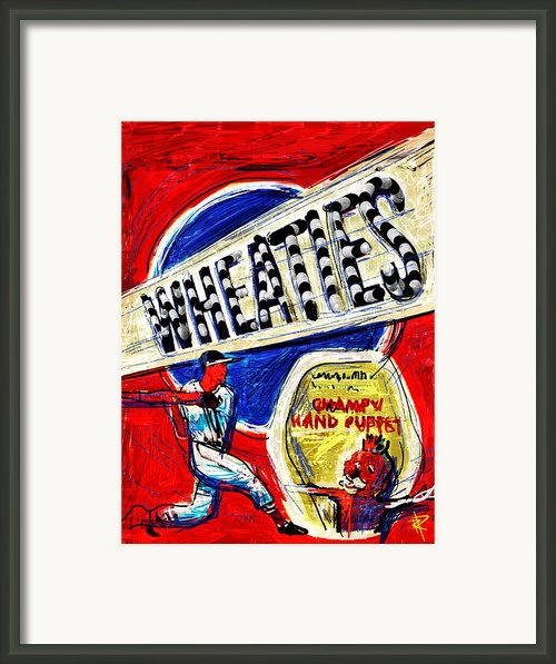 Breakfast Of Champions Framed Print By Russell Pierce