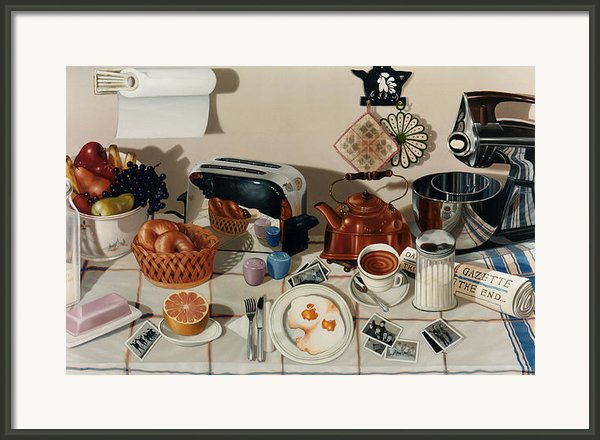 Breakfast With The Beatles - Skewed Perspective Series Framed Print By Larry Preston