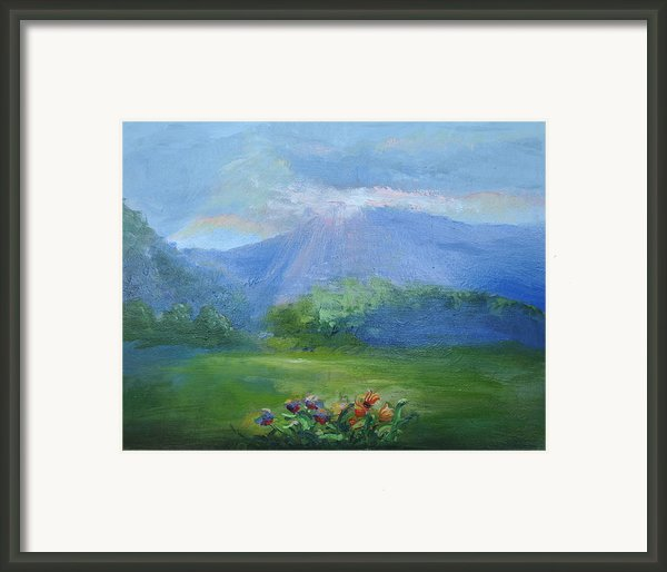 Breakthrough Light Framed Print By Patricia Kimsey Bollinger