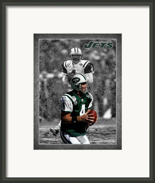 Brett Favre Jets Framed Print By Joe Hamilton