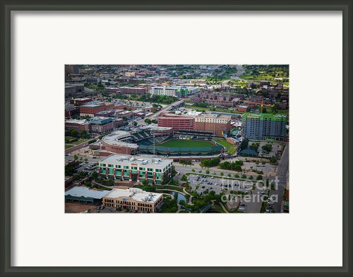 Bricktown Ballpark Framed Print By Cooper Ross
