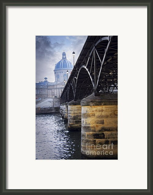Bridge Over Seine In Paris Framed Print By Elena Elisseeva