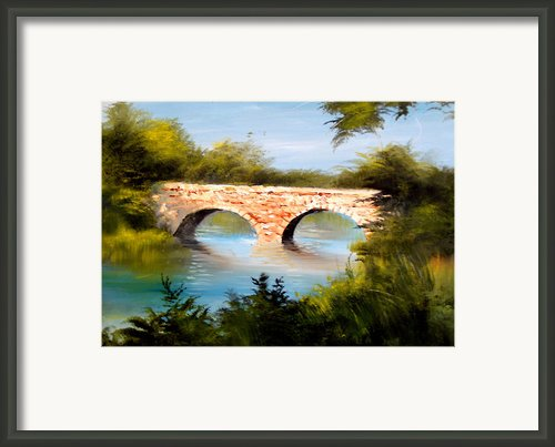 Bridge Under El Dorado Lake Framed Print By Robert Carver