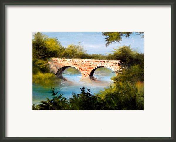 Bridge Under El Dorado Lake Framed Print By Robert Carver