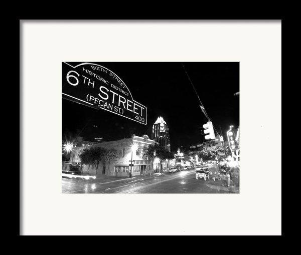 Bright Lights At Night Framed Print By John Gusky