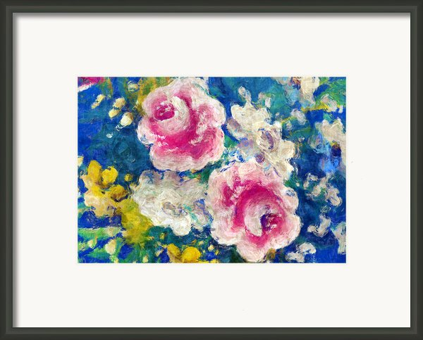 Brightly Floral Framed Print By Susan Leggett
