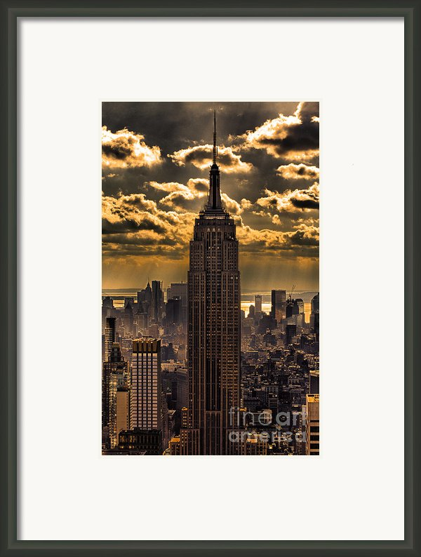 Brilliant But Hazy Manhattan Day Framed Print By John Farnan