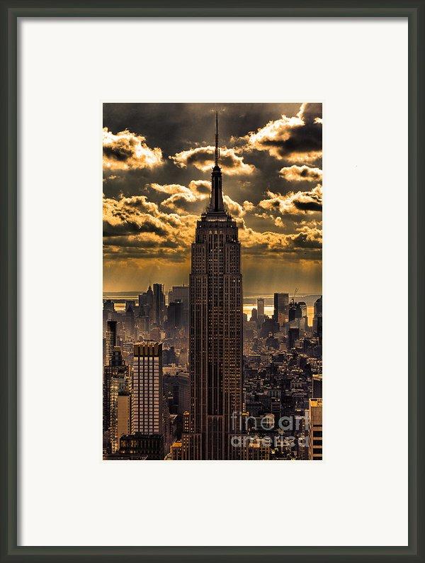 Brilliant But Hazy Manhattan Day Framed Print By John Farnan