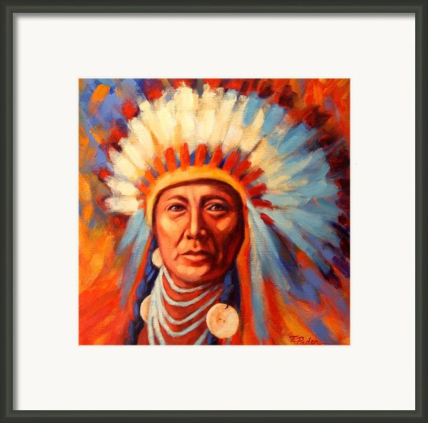 Brilliant Dawn Framed Print By Theresa Paden