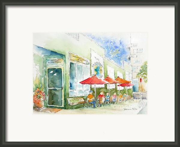 Broadway Roastery Framed Print By Pat Katz