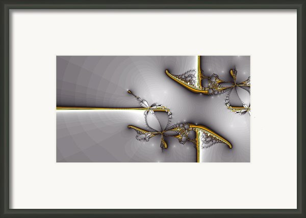 Broken Jewelry-fractal Art Framed Print By Lourry Legarde