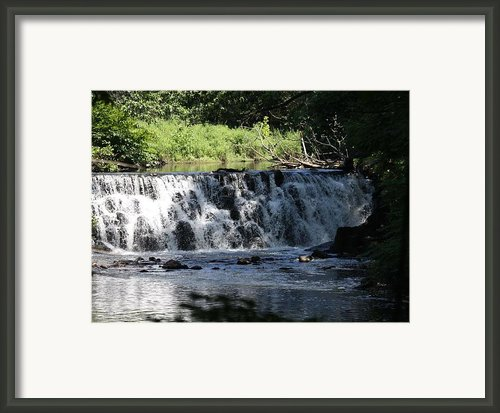 Bronx River Waterfall Framed Print By John Telfer