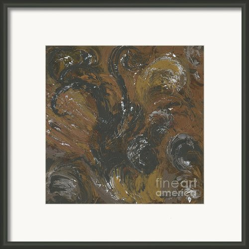 Brown Color Of Energy Framed Print By Ania Milo
