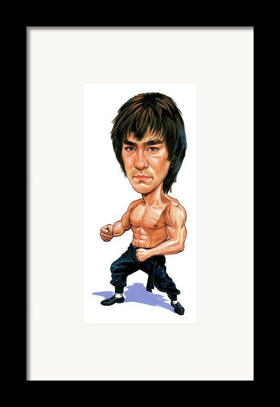 Bruce Lee Framed Print By Art