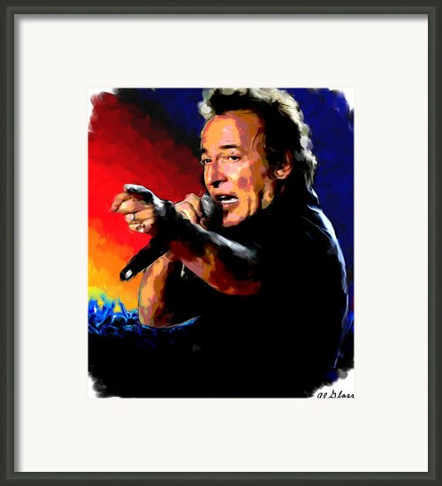 Bruce Springsteen Framed Print By Allen Glass