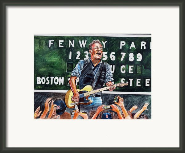 Bruce Springsteen At Fenway Park Framed Print By Dave Olsen