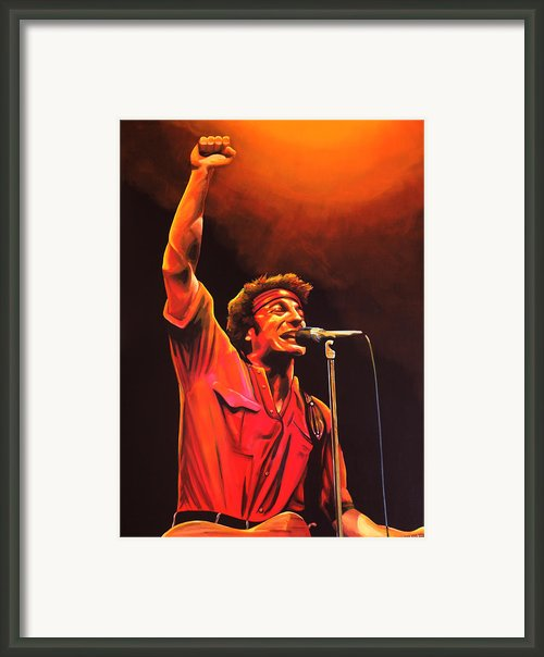 Bruce Springsteen Framed Print By Paul  Meijering
