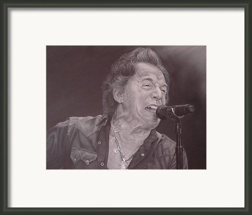 Bruce Springsteen V Framed Print By David Dunne